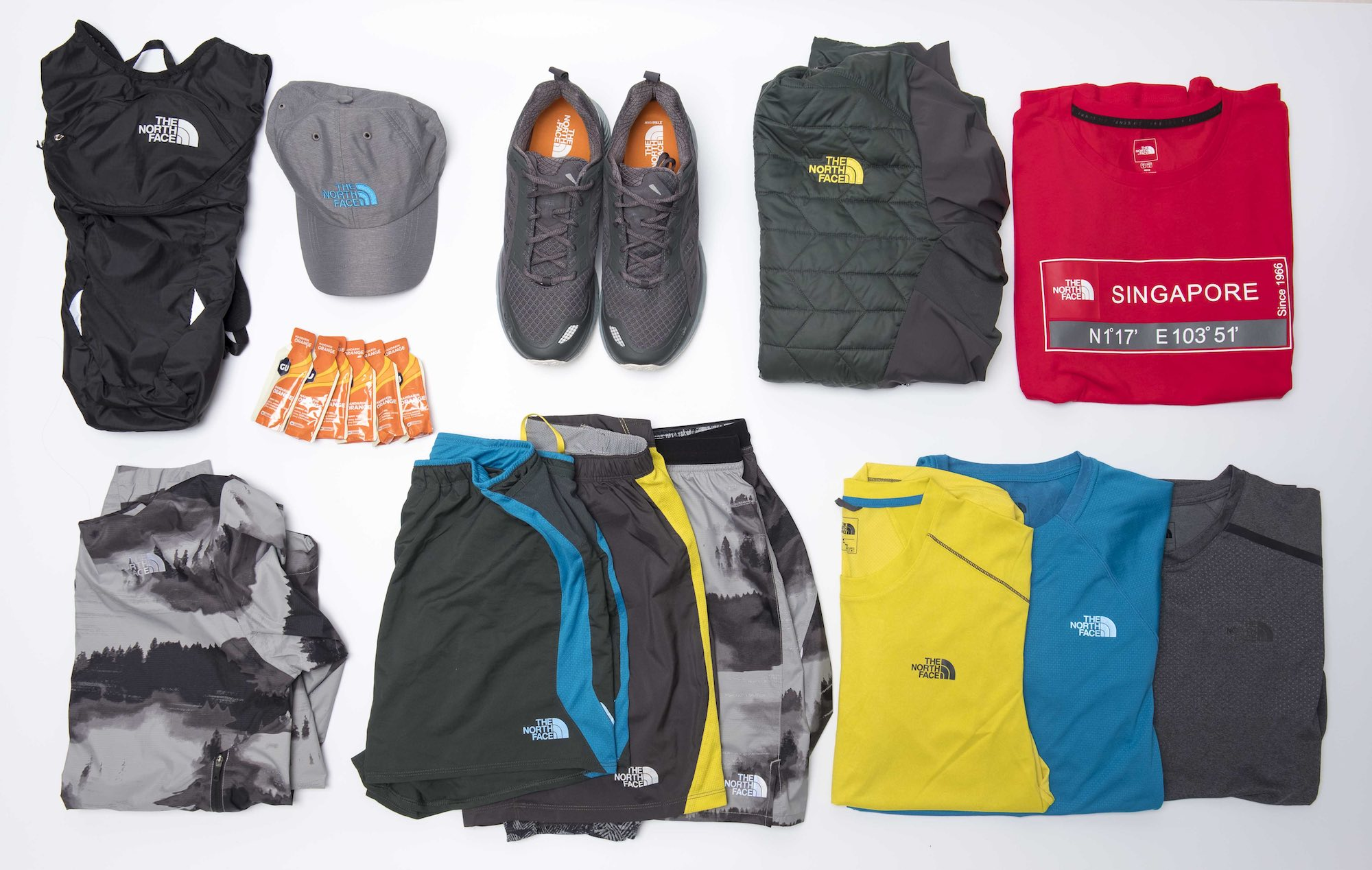 Product photography services studio photographer Singapore e-commerce shoot sport cloth gear the north face