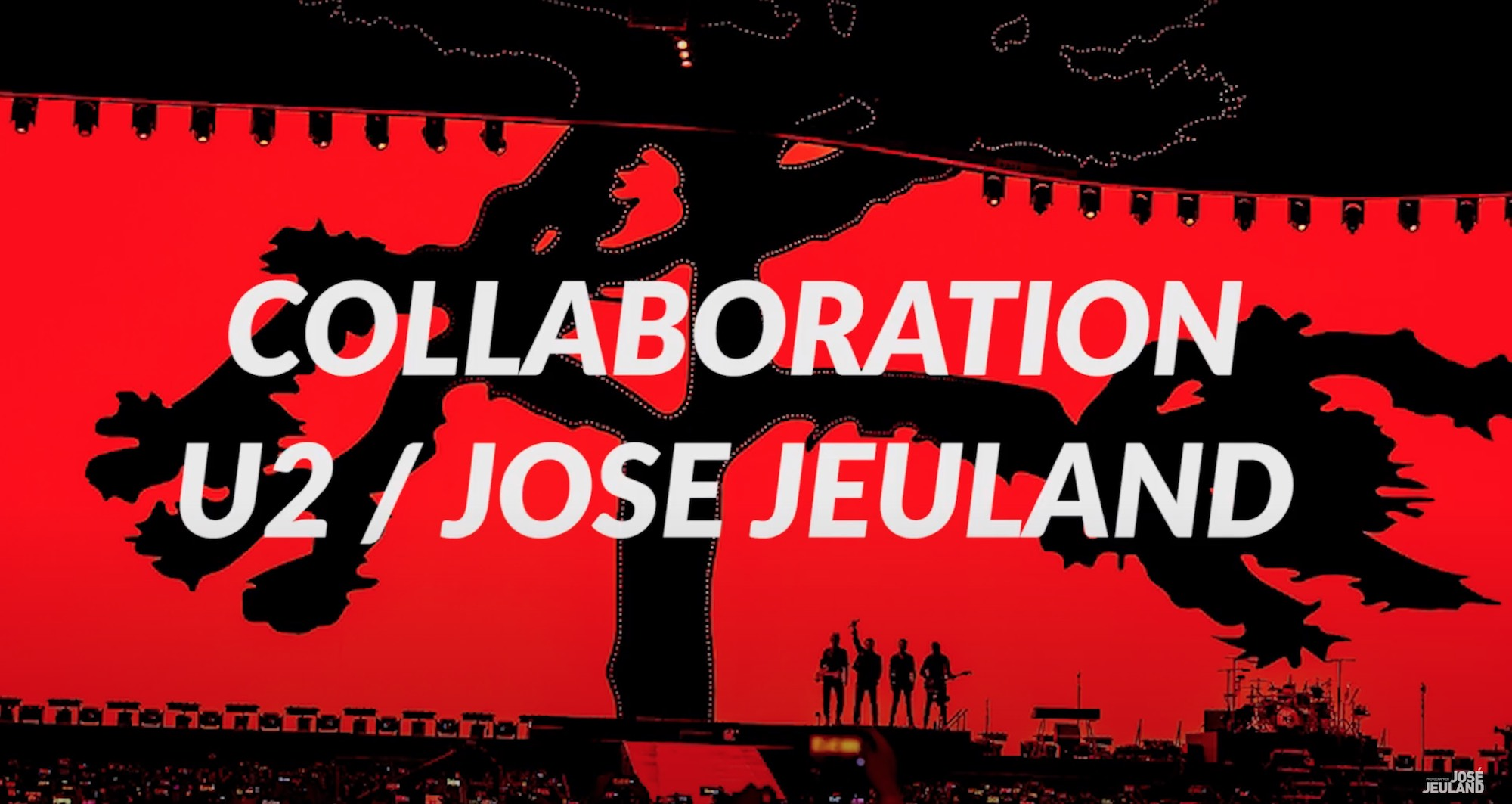 Screenshot U2 band collaboration with Jose jeuland photographer video production company in singapore coco creative studio