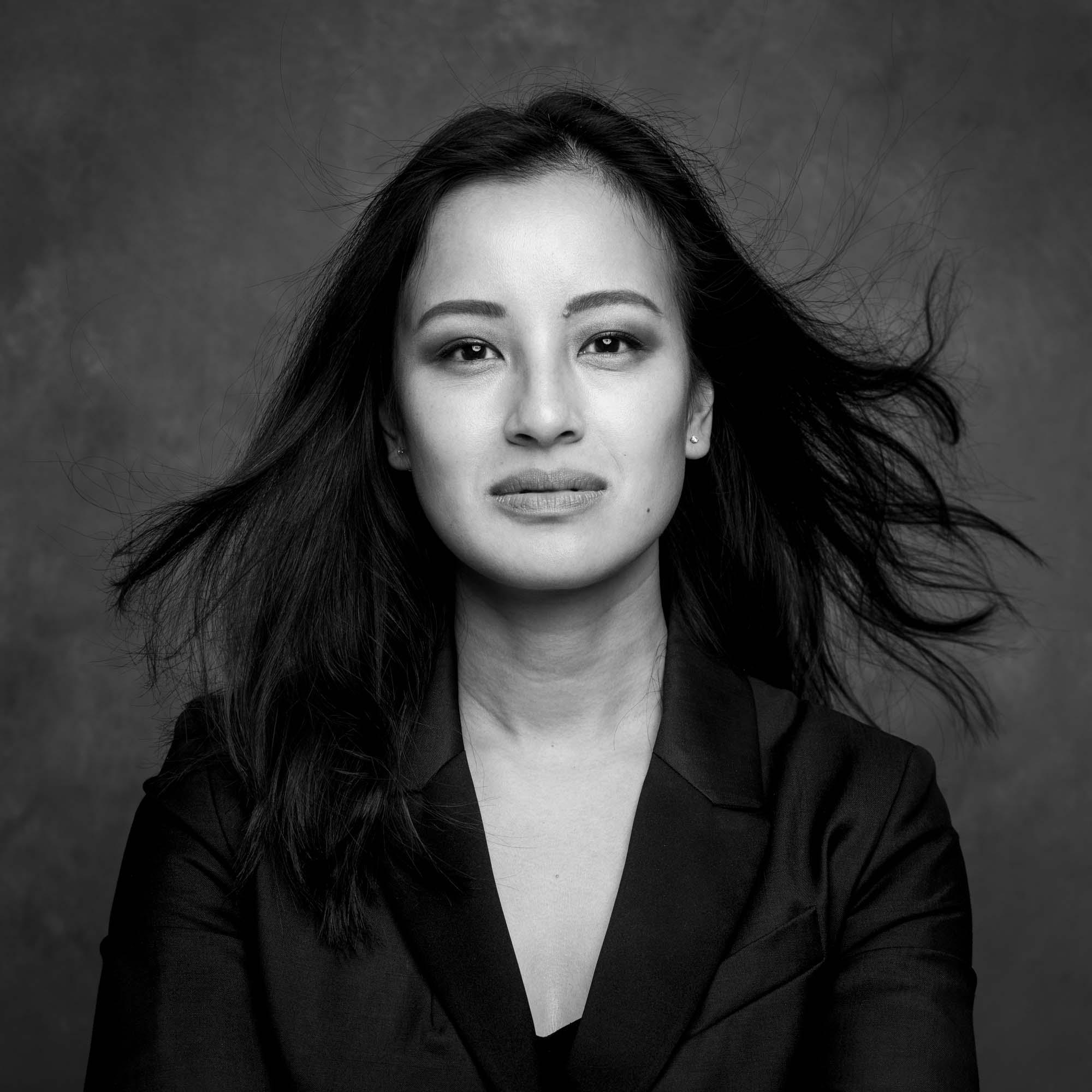 Portrait photography studio singapore services asia photographer photoshoot model black white magazine portrait