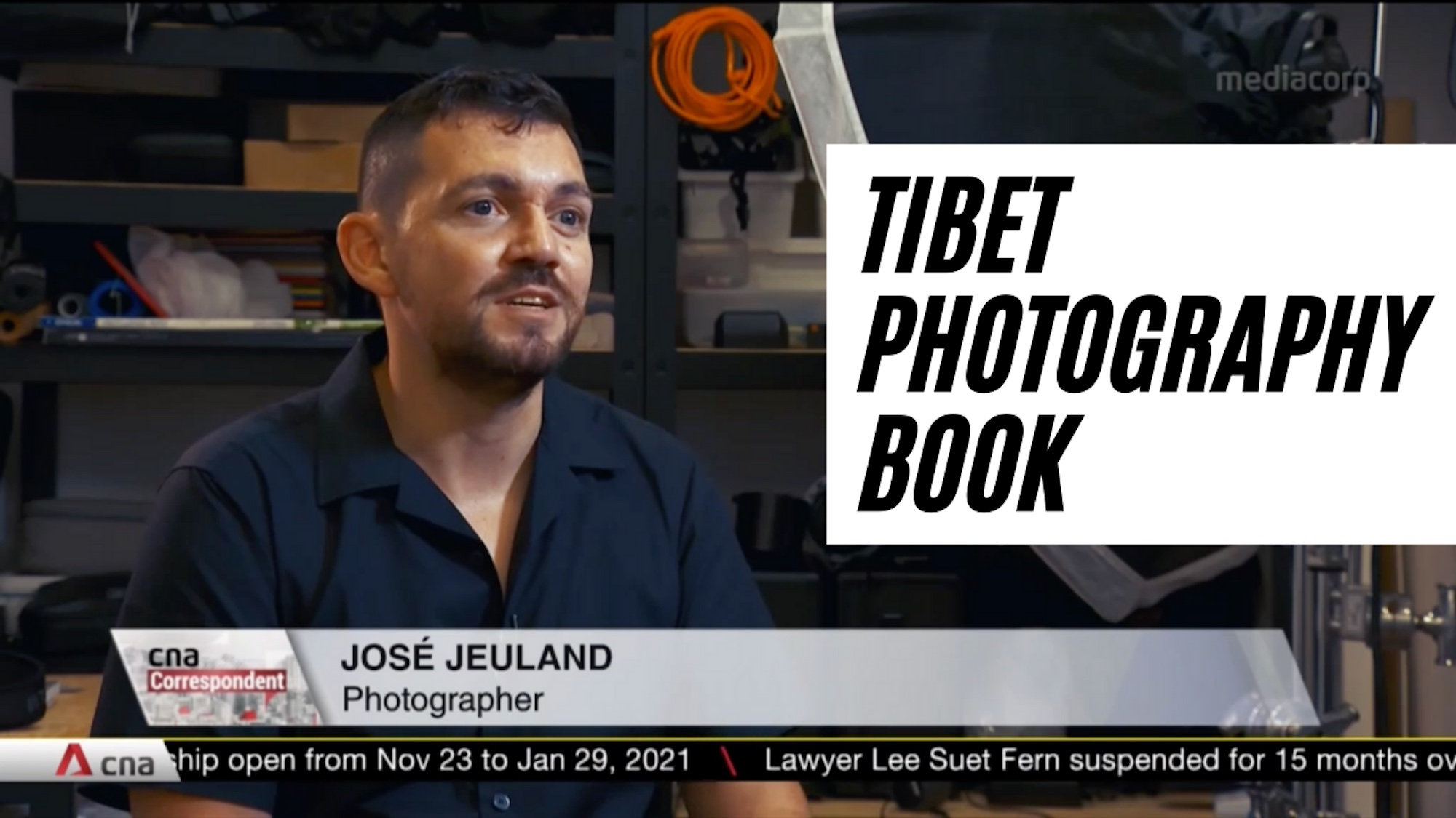 Photography book TIBET featured in CNA