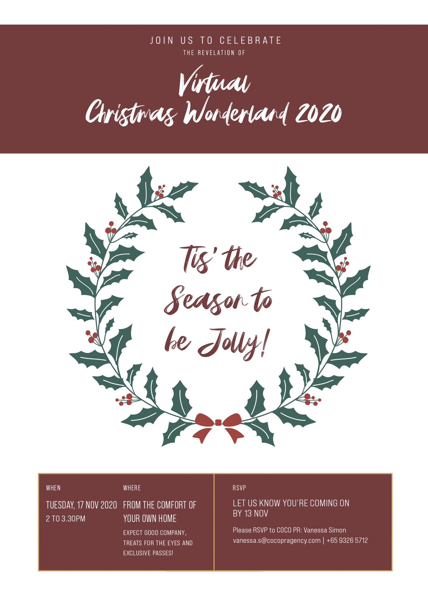 Christmas Wonderland Graphic Design Singapore Coco Creative Studio-1