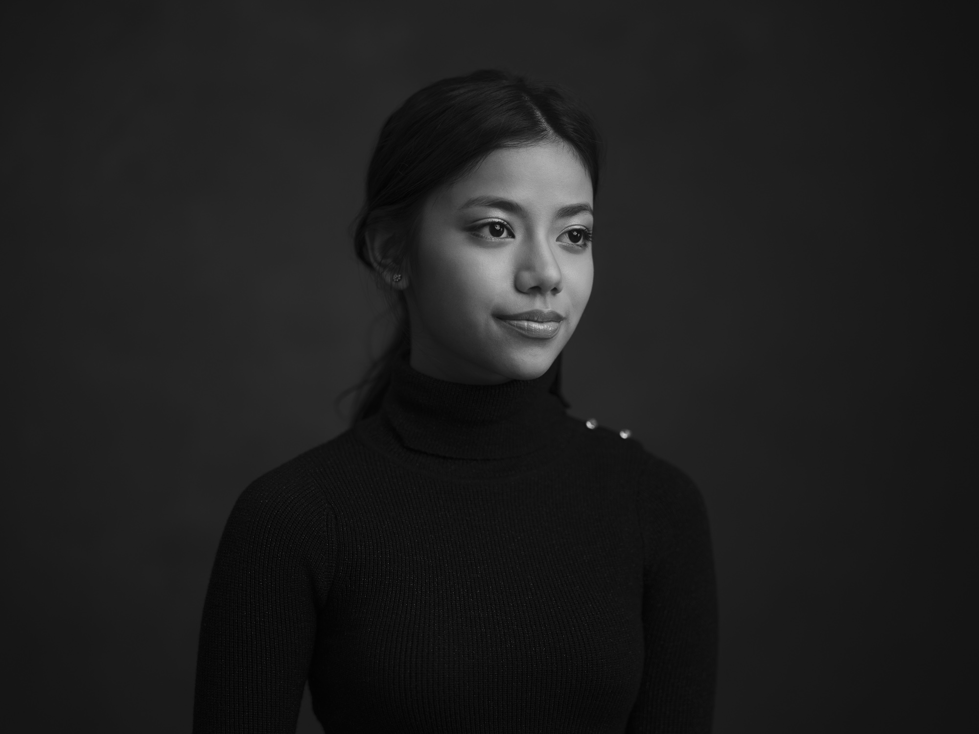 Black and white Portrait Session Headshot Photographer Singapore COCO Creative Studio 2